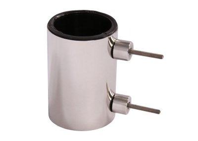 Váza-valcová-nástenná---nižšia,-ťažký-antikor-úchyt-z-boku-l